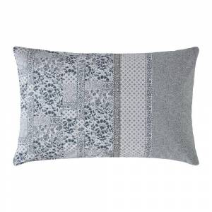 Fat Face - Floral Mosaic Pillowcase - Pearl Blue - Set of 2