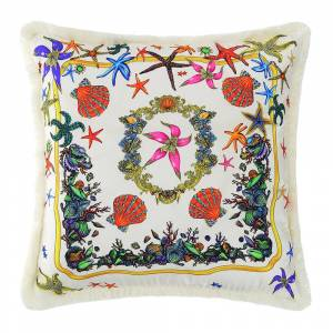 Versace Home - Tresors De La Mer Pillow - 45x45cm - White/Multi