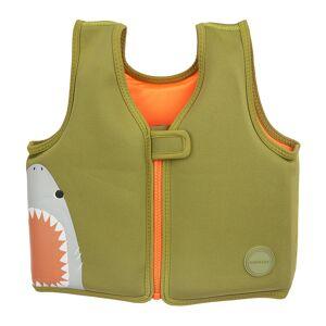 Sunnylife - Shark Attack Life Jacket - Olive - 2-3 Years