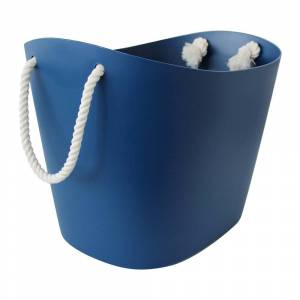 Hachiman - Balcolore Basket with Rope Handle - Navy - Large