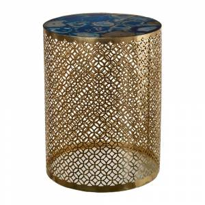 Pols Potten - Semi Precious Stone Side Table - Blue/Gold