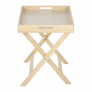 Retreat - Folding Tray Side Table - Natural