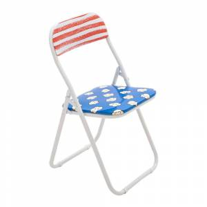 Seletti - 'Blow' Folding Chair - Metal - Popcorn