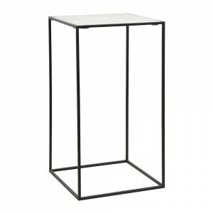 Nordal - Cube Side Table - White Marble - Large