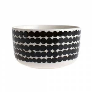 Marimekko - Siirtolapuutarha Bowl - White/Black - 500ml