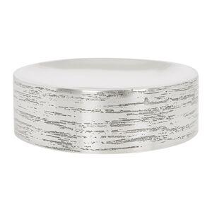 Retreat - Antique Silver Textured Soap Dish