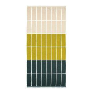 Marimekko - Tiiliskivi Towel - Dark Green/Sand/Brass - Bath