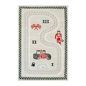 IVI World - Children's 3D Play Rug - Racer - Gray
