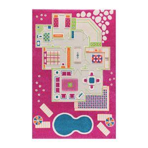 IVI World - Children's 3D Play Rug - Pink Play House - 134x200cm