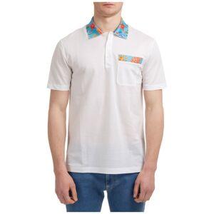 Versace Men's short sleeve t-shirt polo collar trésor de la mer  - White - Size: Medium