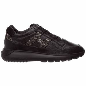Hogan Women's shoes leather trainers sneakers h371 interactive3