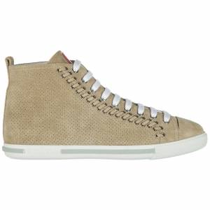 Prada Women's shoes high top suede trainers sneakers
