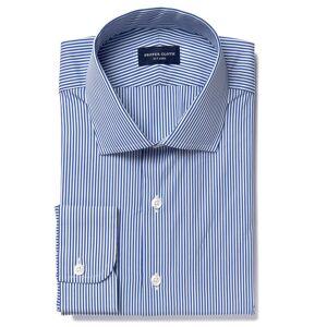 Proper Cloth 140s Navy Wrinkle-Resistant Pencil Stripe Men's Custom Dress Shirt