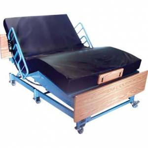 "MEDLINE INDUSTRIES Queens Pride Full Electric Bariatric Bed,Convertible,80""L x 38""W to 48""W,Each,BHAQP3848"