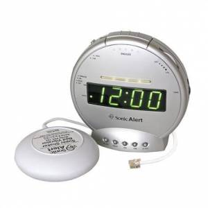 "SONIC ALERT Sonic Boom Alarm Clock and Telephone Signaler with Super Shaker,5.5""W x 3""D x 5.5""H,Each,SBT425ss"