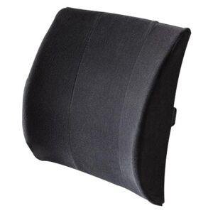 "BodySport Lumbar Support Back Cushion,13"" x 14"",Black,Each,ZRB106BLK"