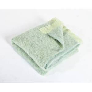 Simply Birch Lime Green Mohair Throw Blanket