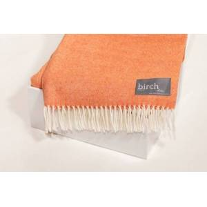 Simply Birch Clementine Lambswool Throw Blanket
