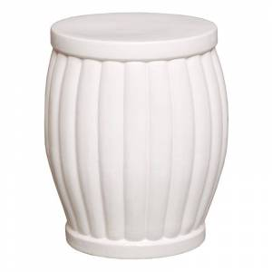 Emissary USA White Fluted Garden Stool