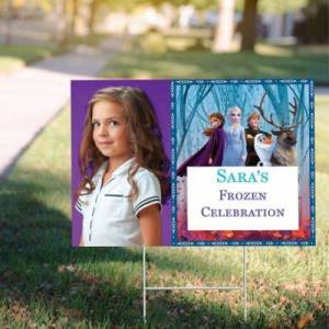 PARTY CITY Custom Frozen 2 Photo Yard Sign Birthday Party Supplies