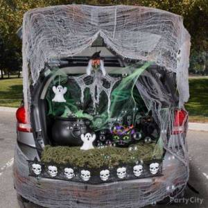 PARTY CITY Classic Witch Trunk-or-Treat Car Decorating Kit Halloween Costume Multi-Colored