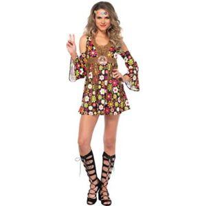 LEG AVENUE Adult Women's Starflower Hippie Costume Size M Halloween Multi-Colored