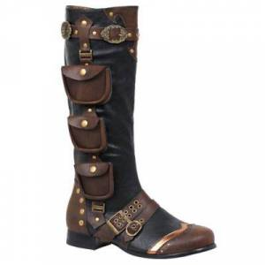 ELLIE SHOES INC Adult Men's Steampunk Boots Size 8/9 Halloween Costume chocolate/brown