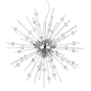 """Access Lighting 63122LEDDLP Burst 9 Light 28"""" Wide LED Sputnik Chandelier - 3000K Chrome / Clear Indoor Lighting Chandeliers"""