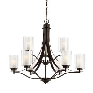 """Generation Lighting 3137309 Elmwood Park 9 Light 32"""" Wide Chandelier Heirloom Bronze Indoor Lighting Chandeliers"""