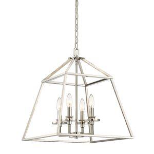 "Savoy House 3-9099-4 Braxton 4 Light 24"" Wide Chandelier Polished Nickel Indoor Lighting Chandeliers  - Polished Nickel"