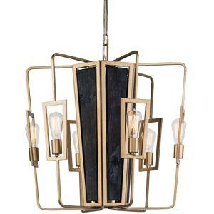 "Varaluz 294C06 Madeira 6 Light 25"" Chandelier with LED Vintage Bulbs Rustic Gold Indoor Lighting Chandeliers  - Rustic Gold"