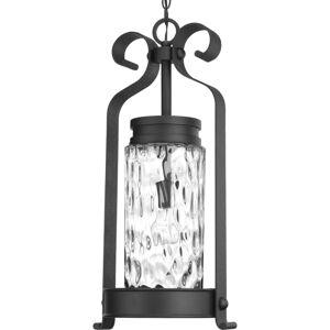 "Progress Lighting P550027 Hermosa Single Light 12"" Wide Outdoor Pendant Black Outdoor Lighting Pendants  - Black"