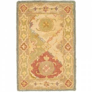 Safavieh AT316-9 Antiquity 8' x 11' Rectangle Wool Hand Tufted Traditional Area Rug Multi / Beige Home Decor Rugs Area Rugs  - Multi,Beige