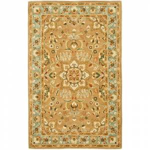 Safavieh CL387-10 Classic 10' x 14' Rectangle Wool Hand Tufted Traditional Area Rug Beige / Light Blue Home Decor Rugs Area Rugs