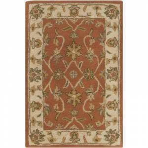 Surya CRN6002-23 Crowne 2' x 3' Rectangle Wool Hand Tufted Traditional Area Rug Brown Home Decor Rugs Throw Rugs