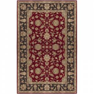 Surya CRN6013-312 Crowne 3' x 12' Runner Wool Hand Tufted Traditional Area Rug Red Home Decor Rugs Runners
