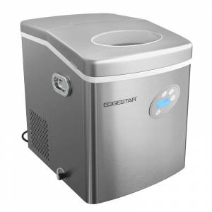 EdgeStar PIM300 15 Inch Wide 2.6 Lbs. Capacity Portable Ice Maker with 48 Lbs. Daily Ice Production Stainless Steel Refrigeration Appliances Ice