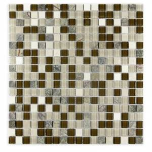 "Miseno MT-GEMSTONE5/8X15 Gemstone - 15"" x 15"" - Glass Visual - Wall Tile - Sold by Carton (19.4 SF/Carton) Brown Flooring Tile Mosaic"