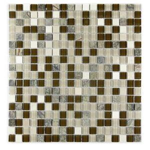 "Miseno MT-GEMSTONE5/8X15 Gemstone - 15"" x 15"" - Glass Visual - Wall Tile - Sold by Carton (19.4 SF/Carton) Brown Flooring Tile Mosaic"