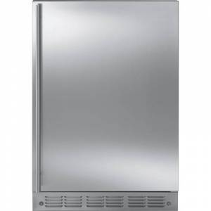 Monogram ZIBS240H 24 Inch Wide 4.25 Cu. Ft. Compact Refrigerator with Automatic Icemaker Stainless Steel Refrigeration Appliances Compact  - Stainless Steel
