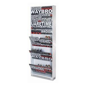 Nameeks 755SR Sarmog Quadrante Collection Storage Cabinet Glossy White Storage and Organization Home Organizers Shoe Racks
