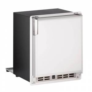 U-Line ULN-SP18FC-03A 15 Inch Wide 12 Lbs. Storage Capacity Built-In Ice Maker with 23 Lbs. Daily Ice Production and Flush to Cabinet Flange White