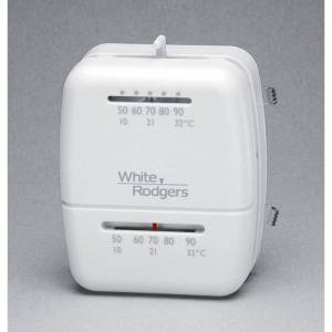 White-Rodgers 1C26-101 Economy Mechanical Heat/Cool Thermostat Grey Thermostat Mechanical Direct Wired  - Grey