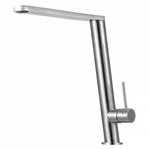 ALFI brand AB2046 Ultra Modern 2.0 GPM Kitchen Faucet with 2-in-1 Temperature and Pressure Faucet Valve Brushed Stainless Steel Faucet Kitchen Single