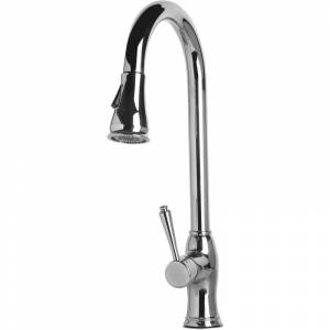 ALFI brand AB2043 1.8 GPM Pull-Down Spray Kitchen Faucet Polished Stainless Steel Faucet Kitchen Single Handle