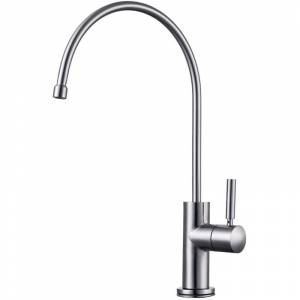 ALFI brand AB5008 Modern Goose Neck Water Dispenser Brushed Stainless Steel Faucet Kitchen Single Handle