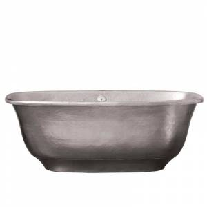 """Native Trails CPS945 Santorini 66"""" Free Standing Copper Kitchen Sink Tub with Center Drain and Overflow Brushed Nickel Tub Soaking Freestanding  - Brushed Nickel"""
