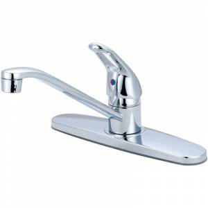 """Olympia Faucets K-4170 Elite 1.5 GPM Widespread Kitchen Faucet with 7-15/16"""" Rea Polished Chrome Faucet Kitchen Single Handle"""