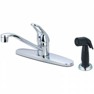"""Olympia Faucets K-4171 Elite 1.5 GPM Widespread Kitchen Faucet with 7-15/16"""" Rea Polished Chrome Faucet Kitchen Single Handle"""