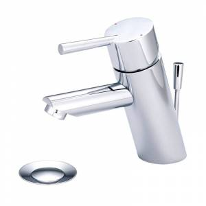 Olympia Faucets L-6052 i2 1.2 GPM Single Hole Bathroom Faucet with Brass Pop-Up Polished Chrome Faucet Bathroom Sink Faucets Single Handle